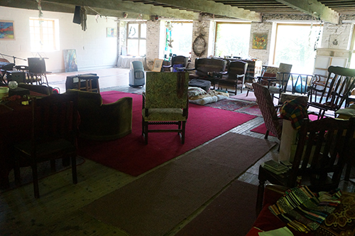 large room with many chairs in it
