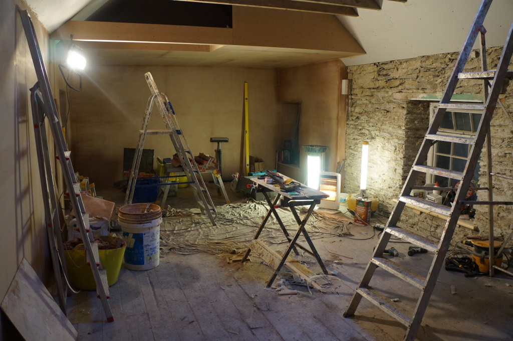 A room in the process of being renovated